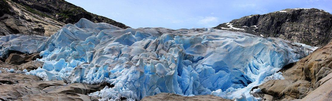 Nigardsbren, Glacier, Ice, Melt, Nature, Landscape