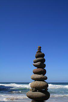 Rocks, Beach, Ocean, Nature, Thinking, Stones, Wave