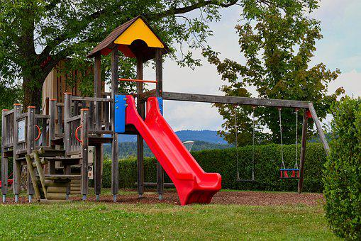 Playground, Slide, Children's Playground, Game Device
