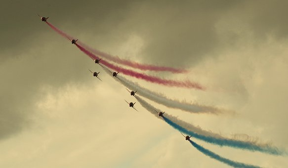 Jet, Planes, Red Arrows, Team, Formation, Airplanes