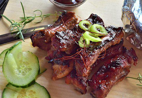 Spare Ribs, Ribs, Pork, Grill, Pork Ribs, Grilled, Food