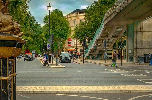 London, City, Road, Taxi, Bridge, England, Architecture