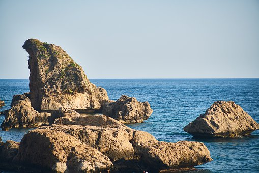 Landscape, Rocks, Marine, Wave, Water, Sky, Nature