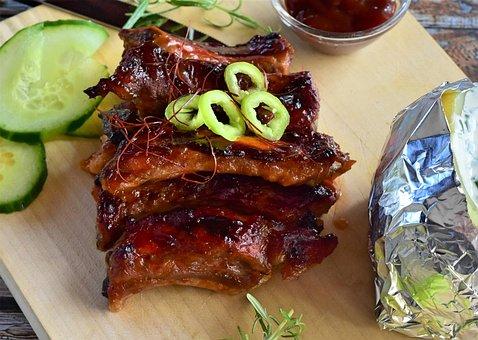 Spare Ribs, Ribs, Pork, Grill, Pork Ribs, Spicy, Sharp