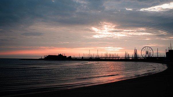 Landscape, Sea, Dawn, Water, Nature, Ocean, Sunset, Sky