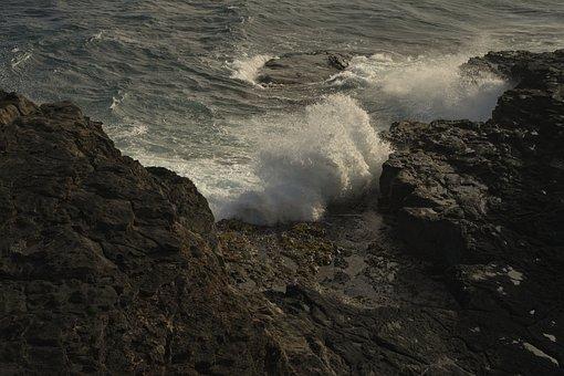 Surf, Ocean, Cliff, Crash, Turbulence, Wave, Sea, Water