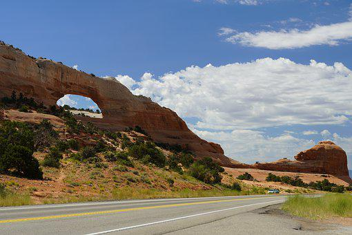 Rock, Arch, Utah, Mountain, Hole
