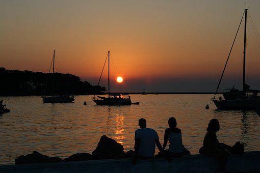 Croatia, Sunset, Sea, Water, Adriatic Sea, Vacations