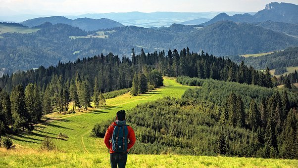 Hiking, Mountain, Nature, Valley, Top, View, Hiker