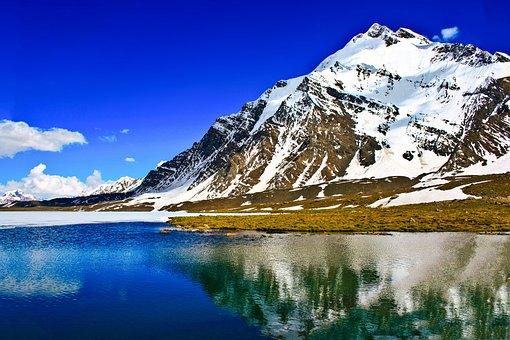 Lake, Peak, S, Landscape, Nature, Mountains, Water
