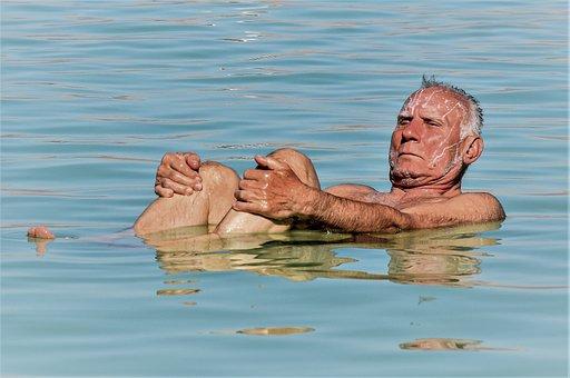 Dead Sea, Vacation, Salt, Water, Sea, Blue, Nature