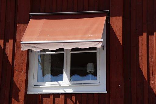 Sweden, Window, Awning, Building, Facade, Village