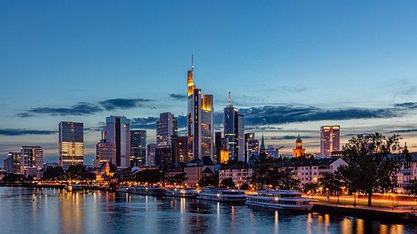 Skyline, Frankfurt Am Main Germany, Architecture