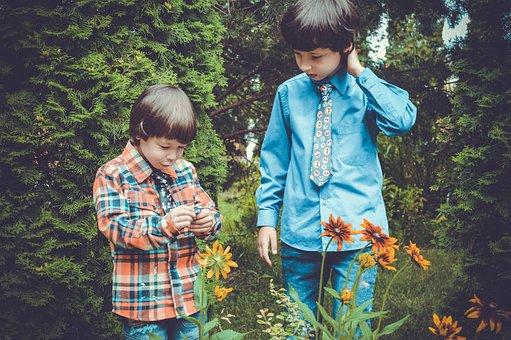 Kids, Garden, Play, Childhood, Baby, Happy, Cute
