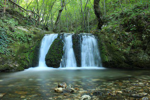 Waterfall, Nature, Forest, Relaxation, Bach, Stones