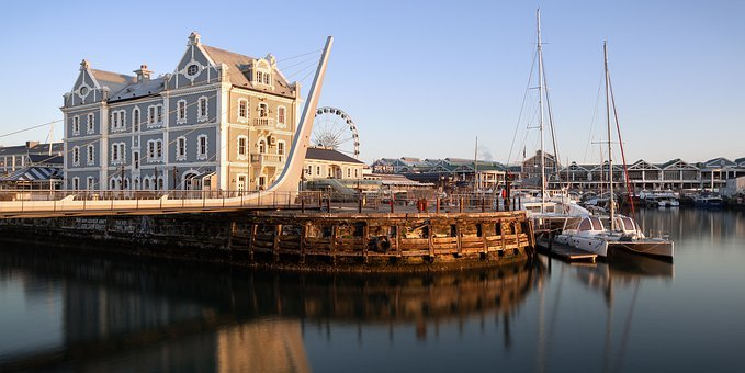 Architecture, Blue, Boat, Bridge, Building, Cape Town