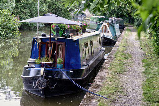 Canal, Boat, Boats, Water, Travel, Tourism, Towpath, Uk