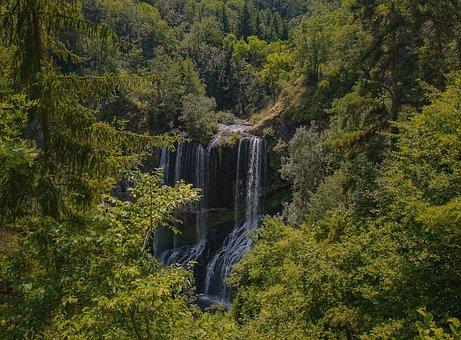 Cascade, Nature, Tree, Water Fall, Landscape, Auvergne