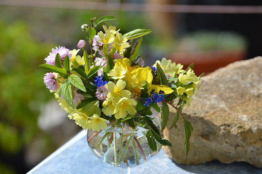 Vase, Flowers, Bouquet, Country