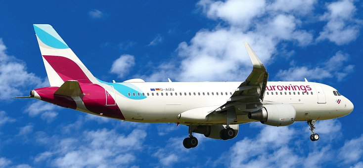 Landing, Eurowings, D-aizu, Airbus, A320-214, Chassis