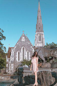 Copenhagen, Denmark, Church, Danish, Summer, Sky