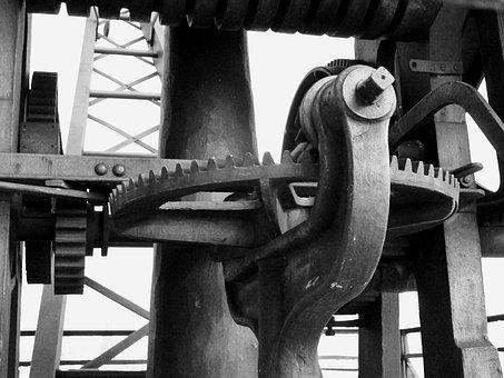 Mechanics, Crane System, Old Technology, Gear, Metal