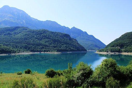 Lake, Water, Bubal Reservoir, Huesca Pyrénées