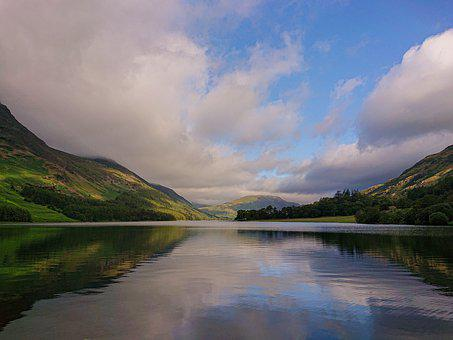 Lake, Sky, Cloud, Lake District, Uk, Landscape