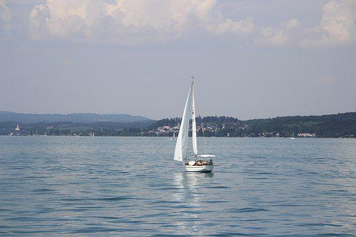 Sailing Boat, Lake, Lake Constance, Water, Blue, Nature