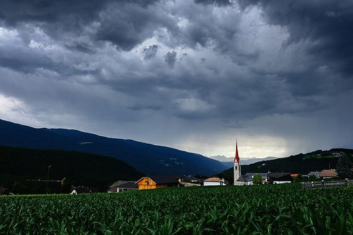 Nature, Landscape, Thunderstorm, Gewitterstimmung