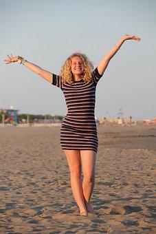 Beach, Girl, Woman, Sea, Bikini, Summer, Ocean, Water