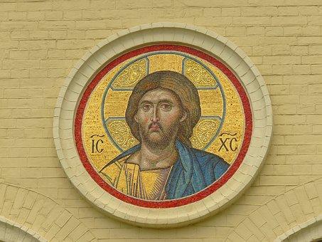 Mosaic, Jesus Christ, Church, Orthodox, Vera, Religion