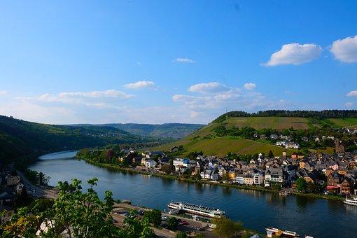 River, Lahn, Water, River Bend, Bird's Eye View