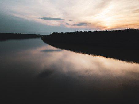 River, Water, Aerial, Nature, Landscape, Summer, Sky