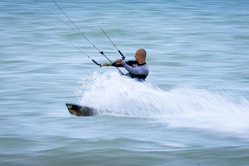 Kite, Panning, Sport Photography, Surfing, Surf, Summer