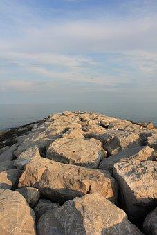 Stones, Rock, Beach, Water, Stone, Sea, Sky, Landscape