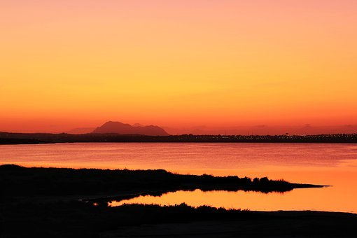 Sunset, Amazing, Laguna De La Mata, Torrevieja, Spain