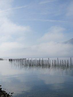 France, Aix Les Bains, Lake, Water, Nature, Mountain
