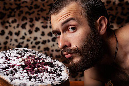 Guy, Man, Cook, Home, Background, Portrait, Cake