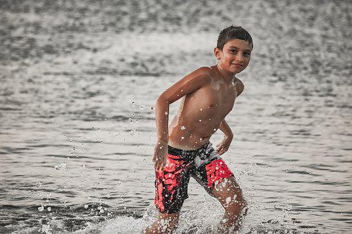 Boy, Sea, Summer, Child, Beach, Water, Joy, Vacation