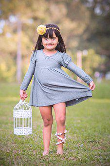 Girl, Session, Cage, Portrait, Nature, Child, Beauty