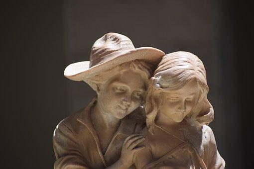 Love, Statue, Romance, Boy And Girl, Stone Work