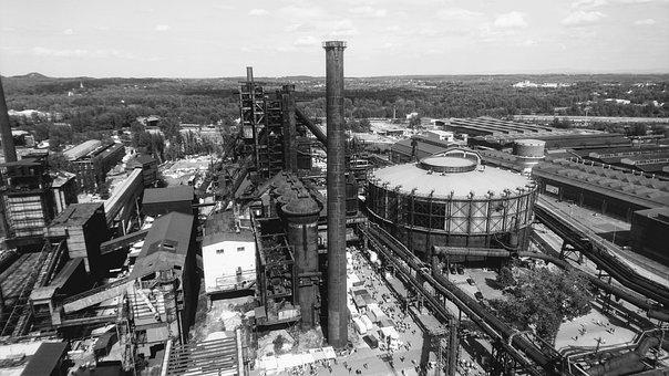 Ostrava, Deep, Mine, Industrial, Architecture, Building