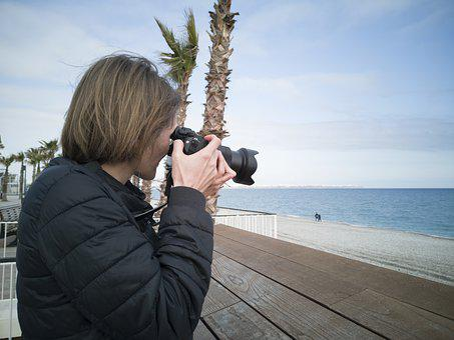 Photographer, Photography, Woman, Camera, Machine