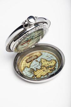 Compass, Directions, North, South, West, East, Polar