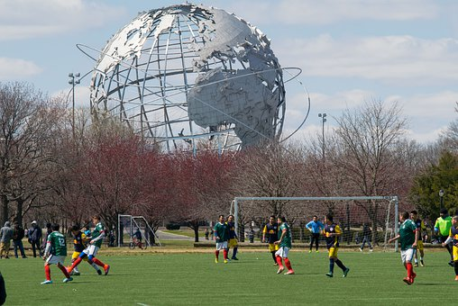 Soccer, Corona Park, Park, Nyc, New York, Queens, City