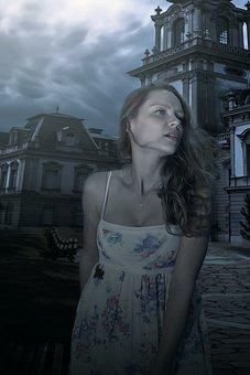 Portrait, Fantasy, Fantasy Portrait, Dark, Dream, Woman