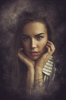 Portrait, Fantasy, Fantasy Portrait, Woman, Girl, Young