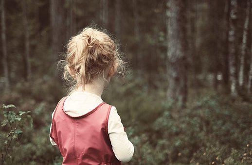 Girl, Child, Forest, Female, Young, Childhood, Person