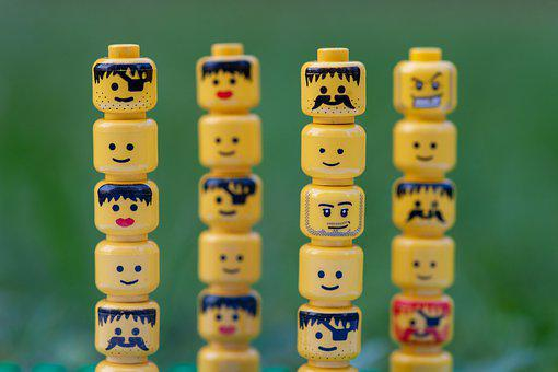 Lego, Figures, Heads, Toys, Figure, Play, Toy, Colorful